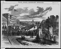 Here's an old print from showing Ulysses Grant's second inauguration, looking down Pennsylvania Ave. 1873 Inauguration of Ulysses S. Grant Source: Library of Congress Pax Britannica, Ulysses S Grant, Presidential Inauguration, Library Of Congress, Washington Dc, 19th Century, Presidents, Photographic Prints, United States
