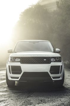 Land Rover in white.  I would definitely drive this thank you..