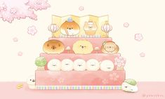 Cute Food Drawings, Cute Animal Drawings Kawaii, Kawaii Drawings, Kawaii Wallpaper, Cute Wallpaper Backgrounds, Cute Cartoon Wallpapers, Kawaii Chibi, Kawaii Art, Pusheen Cute