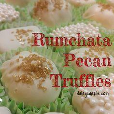 Booze Balls! Rumchata Pecan Truffles Recipe.