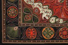 Small Red Rug (border detail) - Tapis Series - Lisa Nilsson