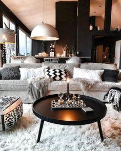 Cozy Nordic Interior by 😍 Room Decor, Decor, House Interior, Nordic Interior, Living Room Scandinavian, Home, Interior, Living Room Style, Home Decor