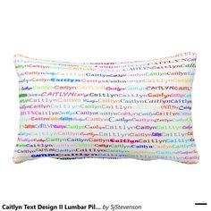 Caitlyn Text Design II Lumbar Pillow