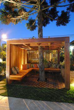 patio design Designs Some Seriously Cool Furniture 37 Backyard Patio Designs, Backyard Projects, Backyard Landscaping, Pergola Patio, Pergola Kits, Gazebo, Desert Backyard, Modern Pergola, Metal Pergola