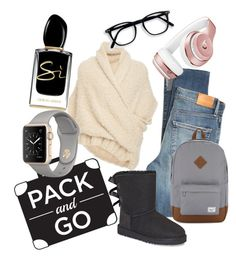 """""""good to go"""" by mayaop on Polyvore featuring Citizens of Humanity, Tuinch, Beats by Dr. Dre, Giorgio Armani, UGG and Herschel Supply Co."""