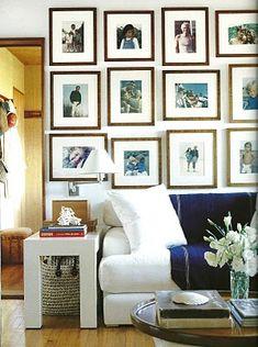 galeria en una pared