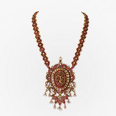 A Gemset Krishna Pendant, #Jewels from South India | Saffronart.com