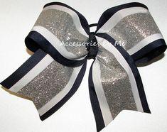 """1 x 4/"""" Gingham Bow Cheerleader Hair Bobble Schoolwear Elastic Hair Accessory"""
