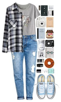 """beautifulhalo"" by ellac9914 ❤ liked on Polyvore featuring Converse, Forever 21, Fig+Yarrow, Byredo, Happy Plugs, NARS Cosmetics and beautifulhalo"