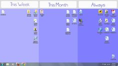 A desktop wallpaper to keep your computer organized