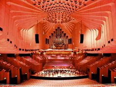 ♻ The main auditorium at the Sydney Opera House ~ Sydney Opera, Argyle Street, Visit Sydney, Cultural Capital, Old Churches, Concert Hall, Beautiful Architecture, Cool Watches, Facade