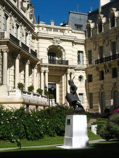An exterior view of the Palacio Paz, Bs. As.