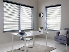 Made to measure Sheer Horizon Blinds For Your Office Windows   Illumin8 Blinds   Here in Blue Colour
