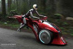 Moonrider Flying Bike concept (via Designbuzz)