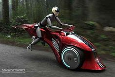 Moonrider Flying Bike concept (via Designbuzz)