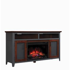 Star Landis 26-inch Classic Flame Indoor Fireplace Media Mantel in Old World