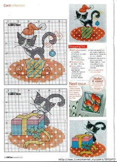 Thrilling Designing Your Own Cross Stitch Embroidery Patterns Ideas. Exhilarating Designing Your Own Cross Stitch Embroidery Patterns Ideas. Cross Stitch Christmas Ornaments, Xmas Cross Stitch, Cross Stitch Cards, Cross Stitch Animals, Christmas Cross, Cross Stitching, Cross Stitch Embroidery, Embroidery Patterns, Christmas Kitty