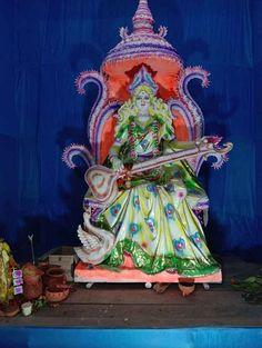 Jai Maa Saraswati, Saraswati Goddess, Manoj Kumar, Stock Photos, Wallpaper, Projects, Goddesses, Painting, Community