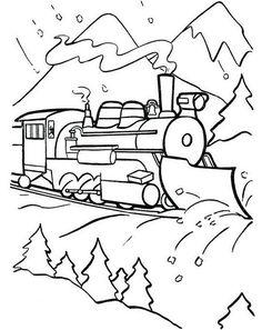 Christmas Coloring Pages | Polar express train, Polar express party ...