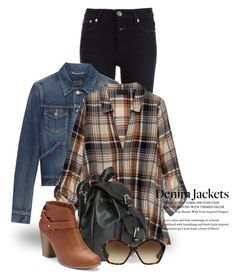 """""""Denim Trend: Jean Jackets 2311"""" by boxthoughts ❤ liked on Polyvore featuring Closed, Yves Saint Laurent, Bobeau, LC Lauren Conrad, Miu Miu and jeanjackets"""