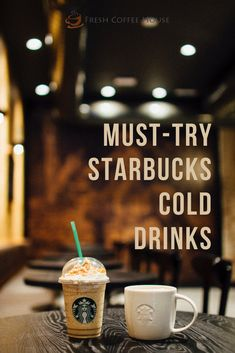 If you're in the mood for something refreshing, sweet, or new, then you must head to the nearest Starbucks and order a cold drink to treat your taste buds. I put together this list of must-try list Starbucks cold drinks. Here is a list of the best Starbucks cold drinks you need to try! #coffee #starbucks Coffee Barista, Coffee Drinks, Coffee Shop, Latte Macchiato, Tire Bouchon Sommelier, Copo Starbucks, Starbucks Cup, Cold Drinks, Beverages
