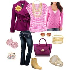 DYT type 1 collection e these colors. Pink Fashion, Love Fashion, Fashion Outfits, Womens Fashion, Fashion Design, Fall Fashion, Fashion Tips, Polyvore Outfits, Pretty Outfits