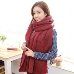 Cheap scarf panda, Buy Quality scarf hat directly from China scarf poncho Suppliers: Recommendation Knitted cotton women scarf winter plaid brand desigual luxury female