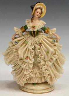 German Dresden & Dresden Type Ballerina Figures : Lot 2152