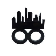 Skyline Laser Cut Two-Finger Ring