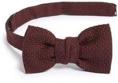 Lanvin Men's New Classic Texture Knit Silk Bow Tie
