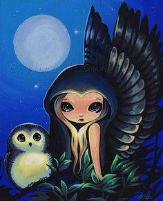 Magical Companions Moon Wings, by Nico Niemi http://www.ebsqart.com/Artist/Nico-Niemi/2736/Art-Portfolio/Gallery/Magical-Companions/Moon-Wings/732962/