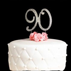 90 Cake Topper for 90 Years Birthday Or Wedding Anniversary Gold Crystal Rhinestone Party Decoration Gold ** Read more at the image link. (This is an affiliate link) 90th Birthday Cakes, Gold Birthday, Birthday Cake Toppers, Birthday Parties, Anniversary Parties, Wedding Anniversary, Glitter Centerpieces, Wedding Banners, Birthday Balloon Decorations