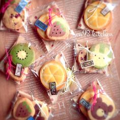Instagram 上的 *えん93*:「 #アイスボックスクッキーアート #アイスボックスクッキー #手作り #いちご #キウイ #オレンジ #ピョン太 #クマ彦 #クマ彦クッキー #クッキー #ラッピング #クックパッド #えん93 #en93kitchenのアイスボックスクッキー 」