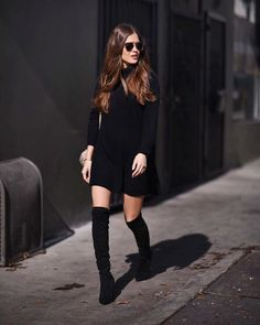 """Who said winter couldn't be sexy? #streetstyle"