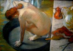 Edgar Germain Hilaire Degas - The Bather. Prostitute.