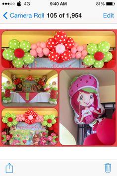 Strawberry Shortcake #flowerarch #columns