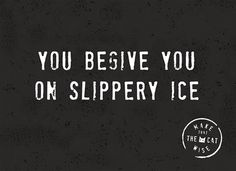 You begive you on slippery ice! #Hallmark #HallmarkNL #makethathecatwise #wenskaart