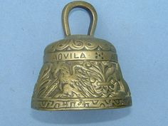 Edwardian Religious Brass Hand Bell  Aquila Agnus by BiminiCricket, $45.00
