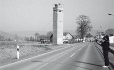 Abbau Grenzturm 1992
