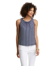 Great pattern and love the gathering at the neckline…could go from work to happy hour nicely