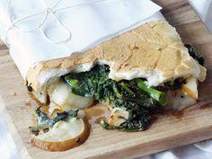 Broccoli Rabe, Pear, and Fontina Sandwich