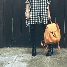 """Buffalo Plaid Oversized Button Down Black and cream buffalo plaid / buffalo check top. Super oversized and comfy fit with POCKETS! Fit is more like a tunic, and could possibly be worn as a dress. 100% cotton, medium weight. Slightly dipped hem, so the top is longer in the back. I am 5'3"""" and modeling a size small. Audrey 3+1 Tops Button Down Shirts"""