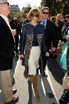 Anna Wintour. Coat. Boots.