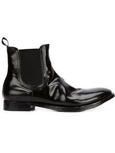 brogue trim Chelsea boots