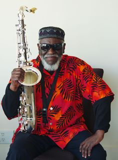 Pharaoh Sanders, the legendary tenor sax player.