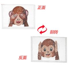 Cheap patches appliques, Buy Quality sew on patches directly from China sew on sequins Suppliers: Cartoon monkey Reversible Sequins Sew On Patches for clothes DIY T shirt Embroidered Patch Applique