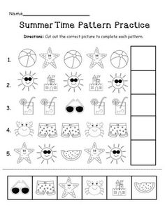 FREE! Summer pattern practice!