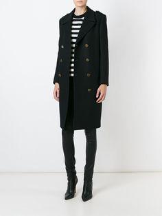 Saint Laurent Double Breasted Overcoat - Boutique Mantovani - Farfetch.com