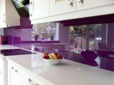 dark purple kitchen splashback - Google Search