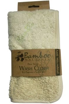 Dual Sided Bamboo Wash Cloth: Super Soft On One Side. Gentle Scrubbers On The Other.